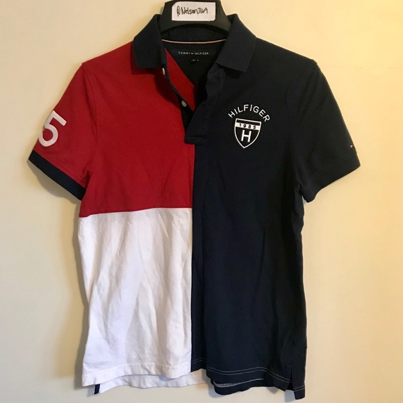 d2cfe99026756 Tommy Hilfiger Colorblock Logo Embroidered Polo. M 5a616324fcdc31036c0d89a8